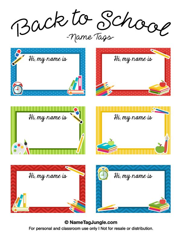 7 best images about name tags on pinterest back to school schools and larger for Free printable name tag template
