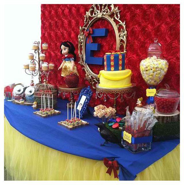 Snow White Party Table Party Ideas Birthday 1st Birthdays Snow