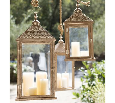 Elyse Filigree Lanterns #potterybarn. Outdoor Lantern LightsOutdoor ...