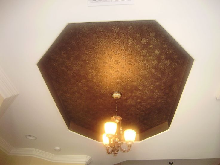 Bronze Painted Textured Wallpaper With Gold Glaze