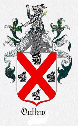 Outlaw family crest