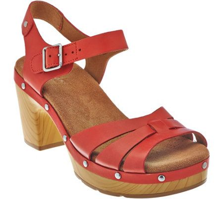 Clarks Artisan Leather Clog Sandals Ledella Trail The