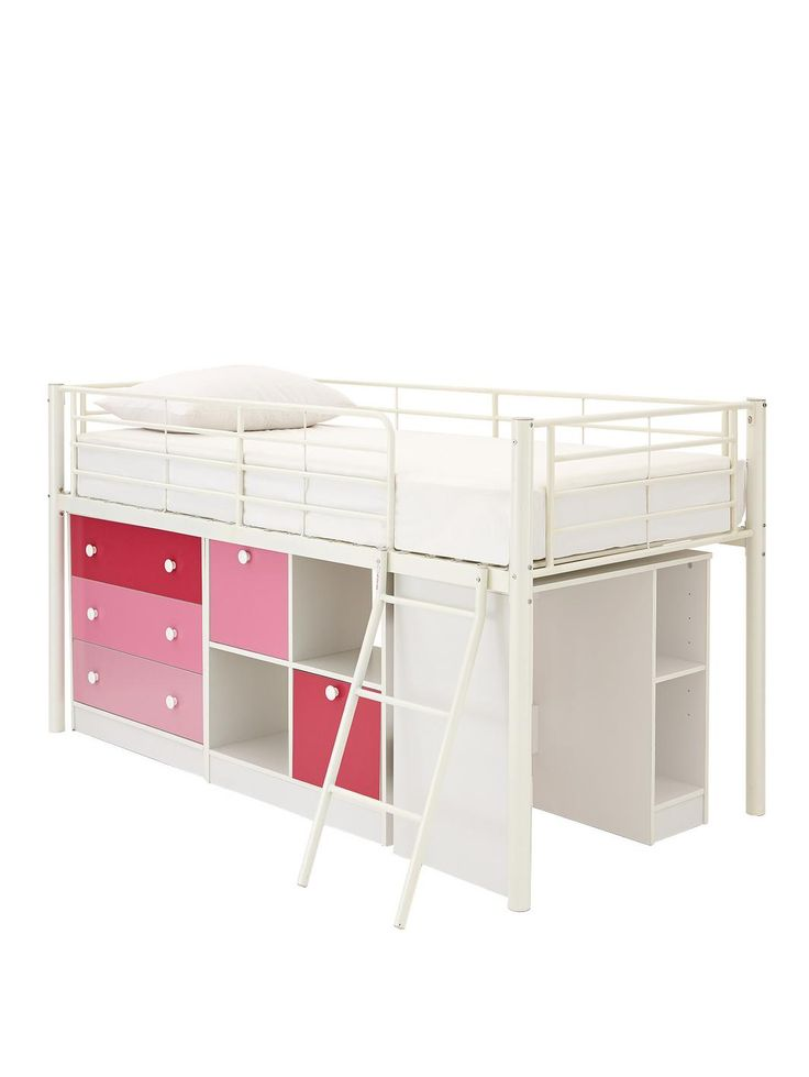 Mezzo Mid Sleeper Bed with Desk, Drawers, Storage + Standard Mattress (Buy and SAVE!), http://www.woolworths.co.uk/kidspace-mezzo-mid-sleeper-bed-with-desk-drawers-storage-standard-mattress-buy-and-save/1458388421.prd