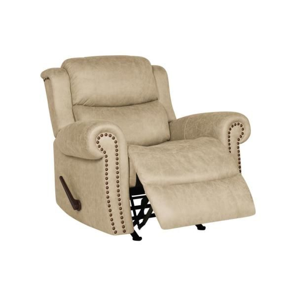 Prolounger 40 In Width Big And Tall Distressed Latte Tan Fabric Rocking 3 Position Recliner Rcl60 Nks85 Rk The Home Depot In 2021 Recliner Chair Rocker Recliner Chair Recliner