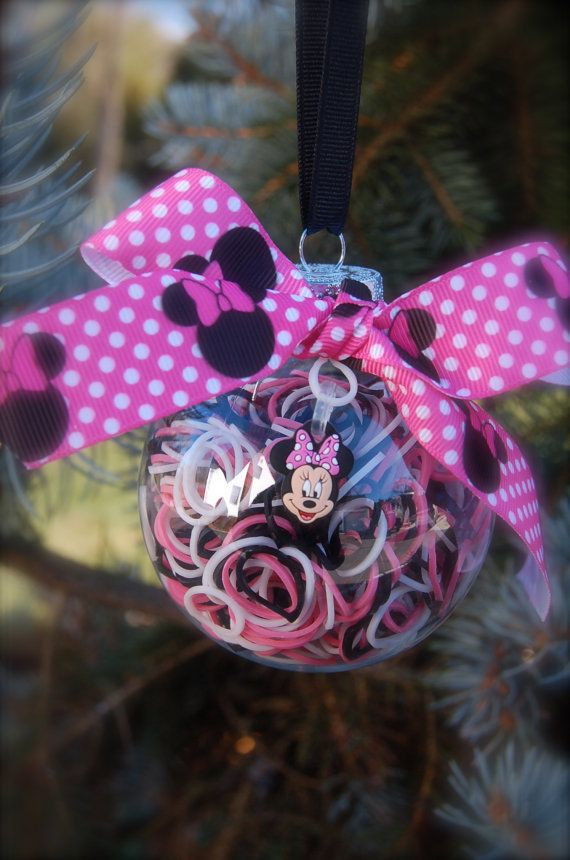 Minnie Mouse Rainbow Loom Ornament