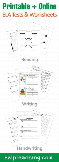 k 12 ela worksheets tests and activities printable and online - Free Printable Art Worksheets