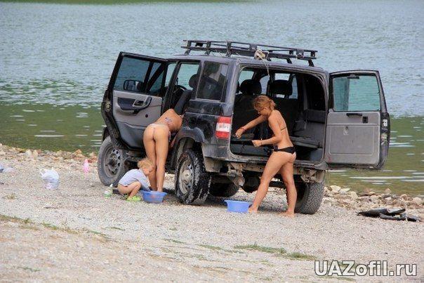 УАЗ + девушки  - УАЗ Фото - Уазофил - Влюбленный в УАЗ.