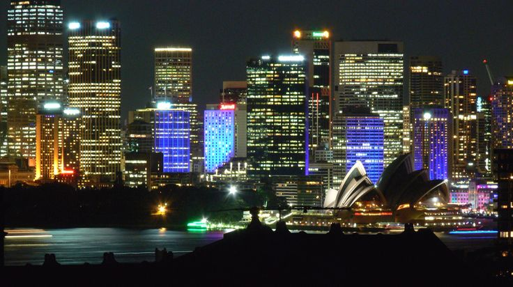 From my balcony - Vivid Sydney 2014