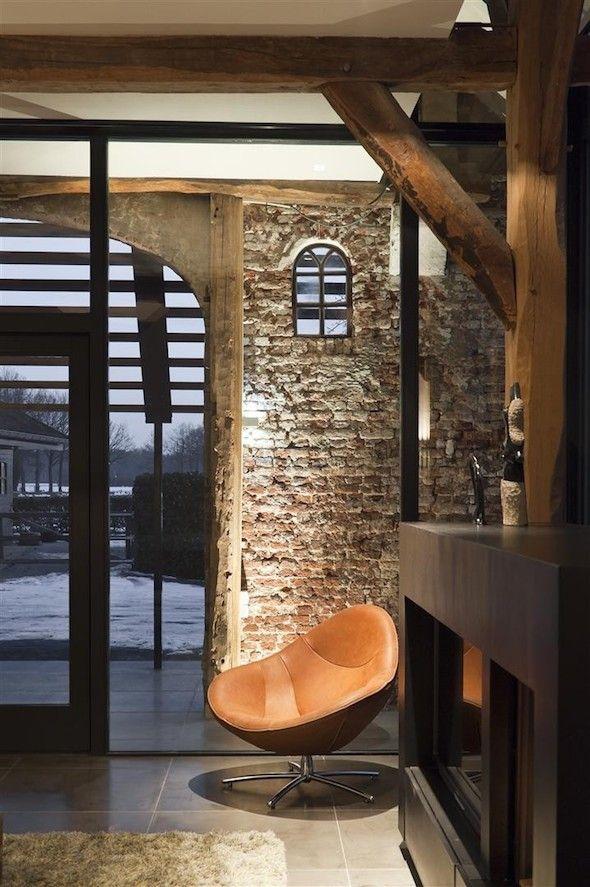 20 beste idee n over binnenmuren op pinterest binnenshuise stenen muren nep stenen muren en - Interieur eclectique grove design ...