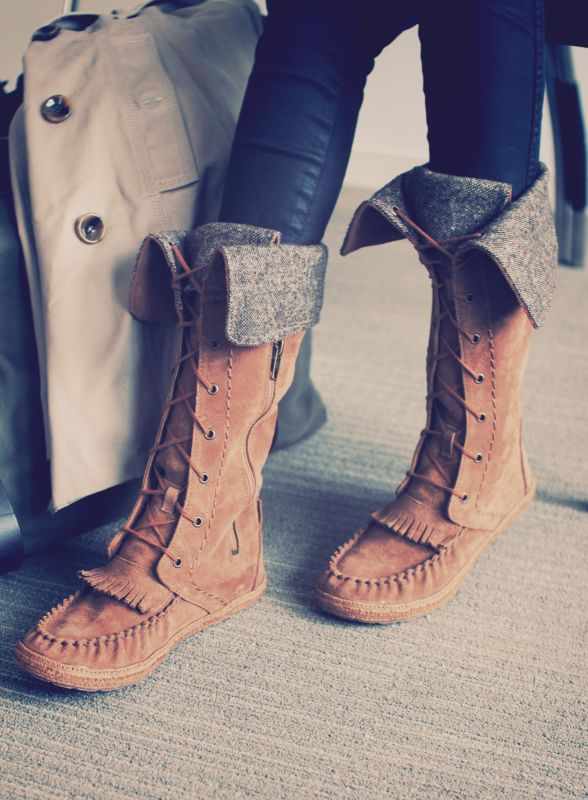 WANT! Need!!!!!! UGG Australia's tall moccasin boot for women - the #Somaya #Fall #boot
