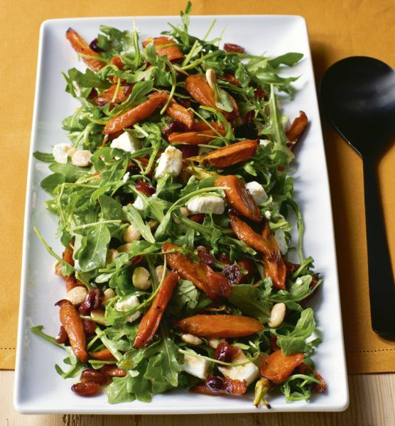 Maple-Roasted Carrot Salad - Barefoot Contessa Cooking For Jeffrey (can't wait!)