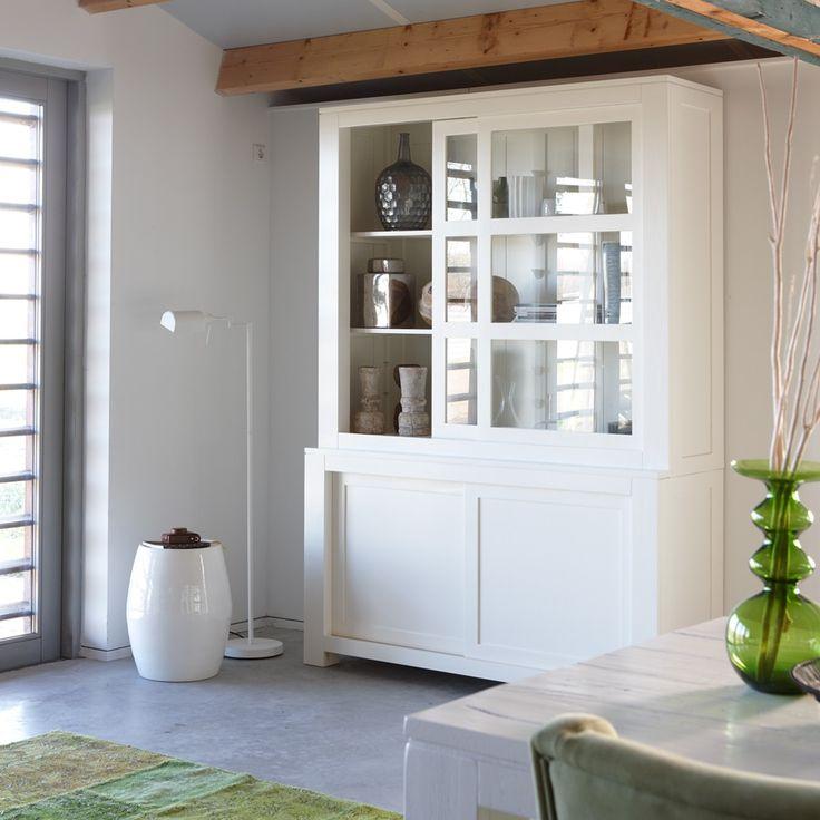 Het Kabinet - Vitrinekast Anne 4-deurs wit