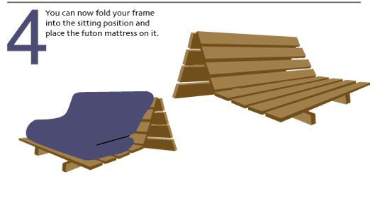 Learn How To Emble Basic Futon Frame With Out Arms Armless List Of Parts And Step By Embly Instructions
