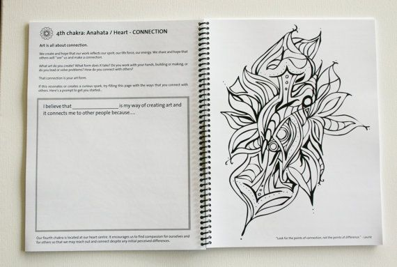 Chakra colouring book adult meditation yoga by OutsideYourLines