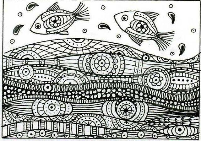 Zentangle fun!: #zentangle #drawing #lineZentangle Drawing, Water Zentangle, Leap Fish, Zentangle Fish, Doodles Fish, Zentangle Water, Line Design, Zentangle Inspiration, Zentangle Fun
