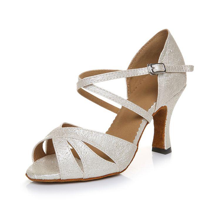 White Women Salsa Dance Shoes Plus Size Women Latin Ballroom Tango Jazz Salsa Dance Shoes Soft Zapatos De Baile Mujer Latin Shoe