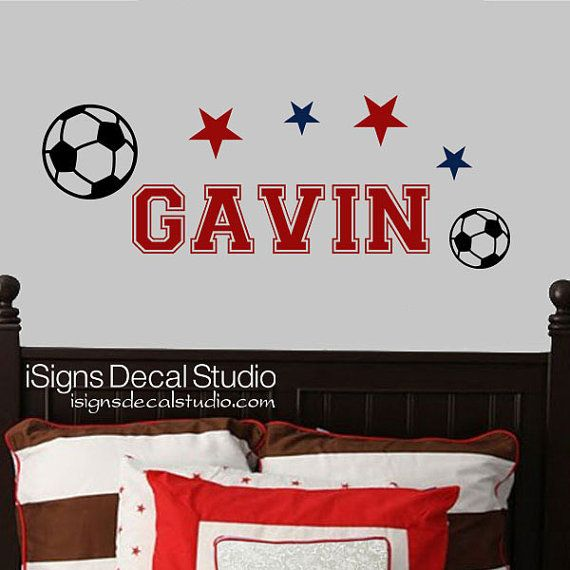 SOCCER DECAL -  Sports Decal - Kids Decal - Soccer Sticker - Boys Room Decal - Vinyl Wall Decals on Etsy, $29.58