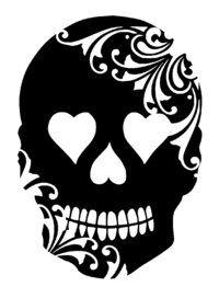 skull stencils                                                                                                                                                      More