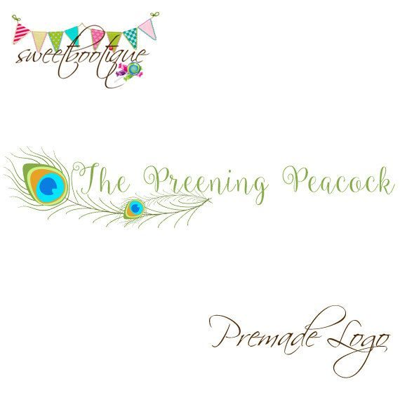 FULLY CUSTOMISABLE  Premade Logo  Preening by SweetBootique