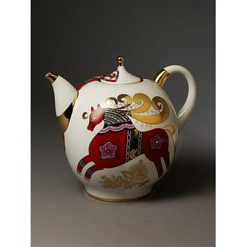 Soviet teapot from Lomonosov factory, Leningrad