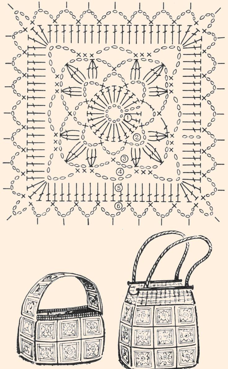 Crochet motif diagram