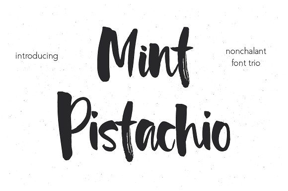 Say Hello to this new unique font Mint Pistachio!. Add a hand brushed touch to your lettering, logo designs, quotes, packaging, social media. You can mix and match all three fonts in one word without any special software. Mint Pistachio Font Trio by MilkLetters on @creativemarket