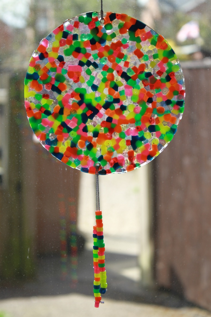 melted bead suncatcher instructions