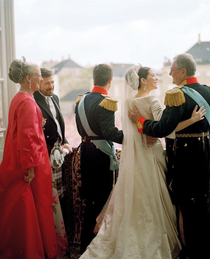 How proud can a father look?  John Donaldson watches his daughter, now Crown Princess Mary of Denmark, as she begins her royal life after her wedding on May 14th 2004