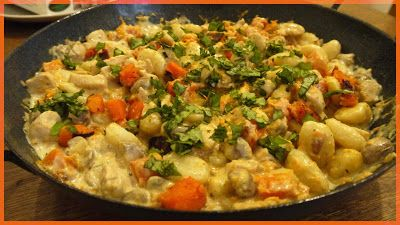 sertésparádé: Csirkés gnocchi sült sütőtökkel és barna csiperkével