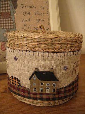 Simply Patchwork: Tuto cubre cesta y unas miniaturas