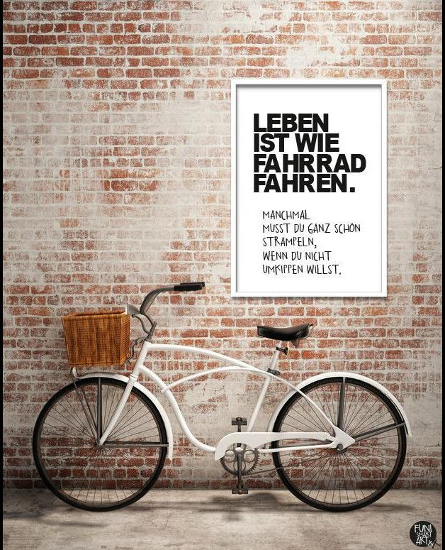 digitaldruck typo poster fahrrad din a4 ein. Black Bedroom Furniture Sets. Home Design Ideas