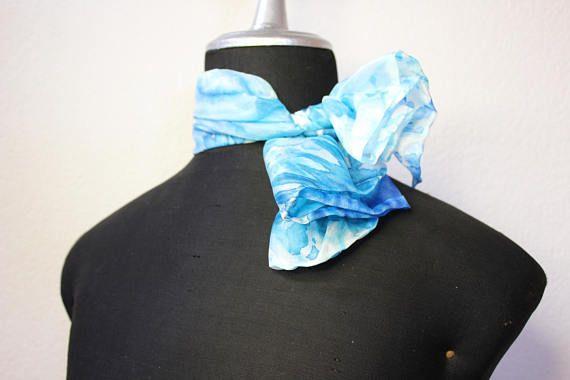 foulard seta tinta a mano/foulard silk/fazzoletto in