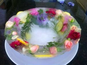 Beautiful Bowl Made of Ice