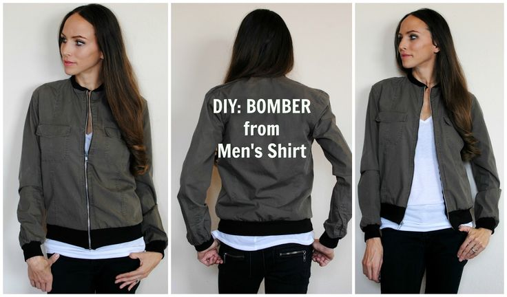 From Button Down to Bomber Jacket:   In this tutorial I show you how to refashion a men's shirt into a bomber jacket. My husband...