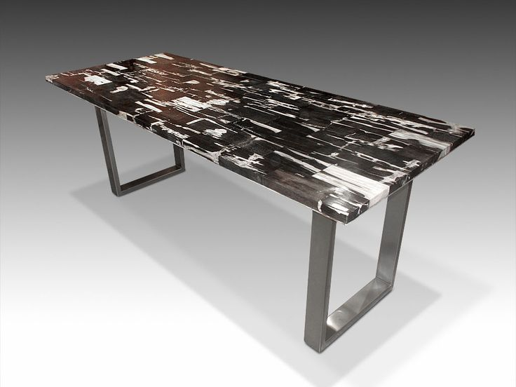 David Alan Collection Petrified Wood Tile Dining Table