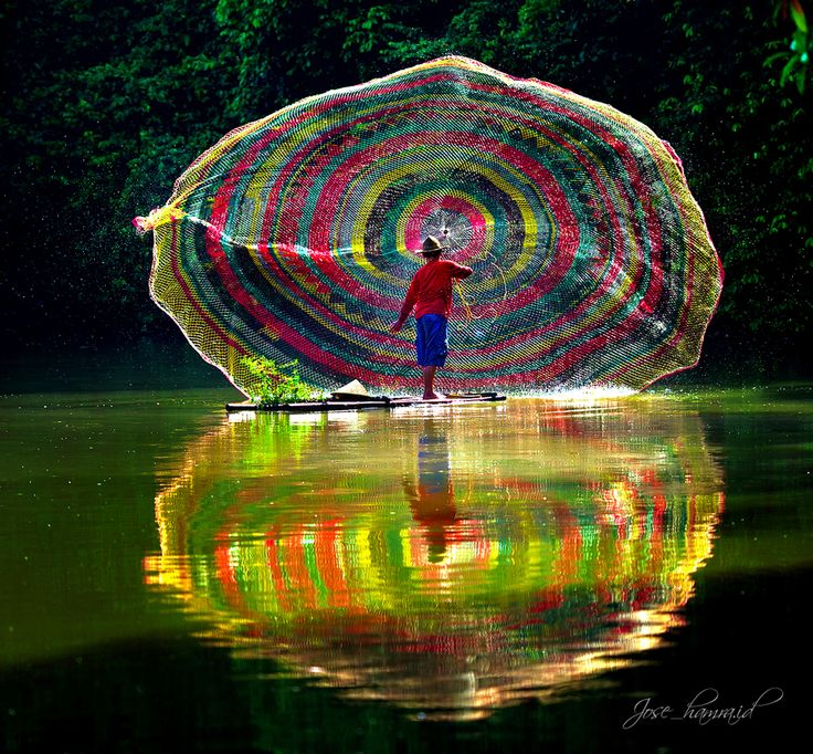 Rainbow Fishing Net by Jose Hamra, via 500px