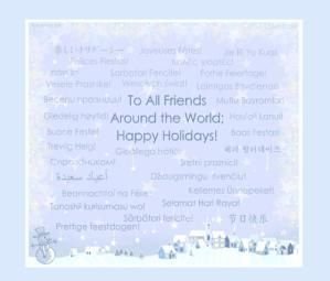 16 Places to Find Fabulous and Free Christmas Ecards: Happy Holidays by Camilla Eriksson