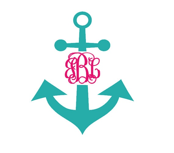 Best Car Decals Images On Pinterest - Anchor monogram car decal