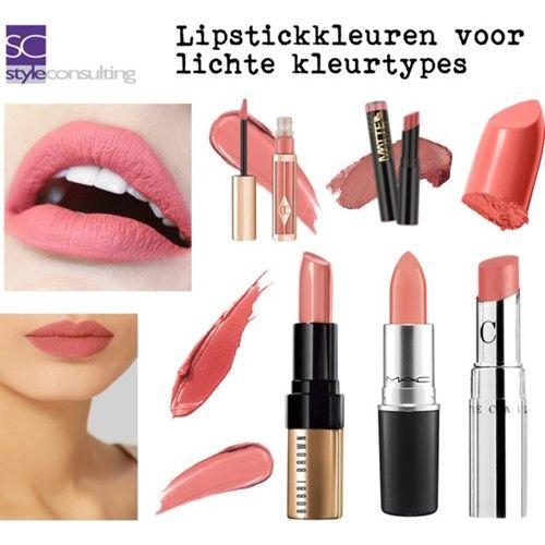 ^ Voorbeelden van lipstick kleuren voor het lente/zomertype.