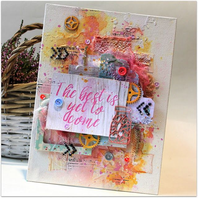 The best is yet to come - Scrap Around The World December challenge #moodboard #mixedmedia #mixedmediacanvas #scrapbooking #scraparoundtheworld #scrapbookingchallenge #canvas #satw #december #mixedmediascrapbooking