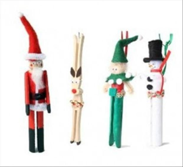 Marvelous Clothespin Crafts Christmas Part - 11: Contemporary Christmas Clothespin Craft Set By Montanye Arts For The Kids