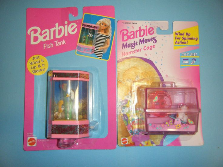 Barbie wind up fish tank magic moves hamster cage set for Toy fish tank