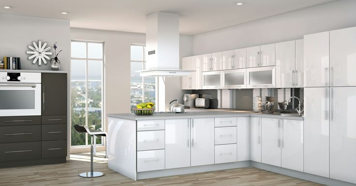 Introducing WHITE HIGH GLOSS, one of the new special order colour available exclusively through @Lowe's! WHITE HIGH GLOSS mixes perfectly with any existing Silhouette Collection shades to create exciting new kitchen possibilities! #homedecor #renovations #kitchen #cabinets #lightcabinets #lightwood #white #design #interiordesign #CutlerKitchenandBath