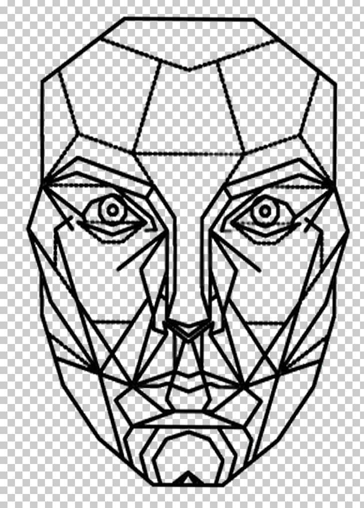 Golden Ratio Mask Proportion Face Png Art Artwork Black And White Drawing Face Procreate Ipad Art Geometric Face Golden Ratio Art