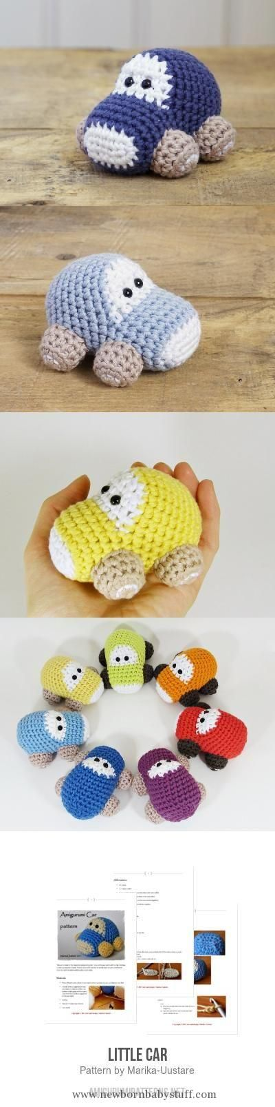Baby Knitting Patterns Little Car Amigurumi Pattern...
