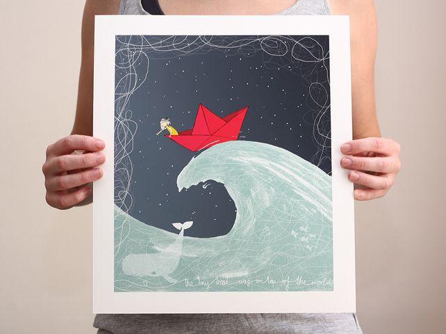 The Tiny Boat: art print large £20.00