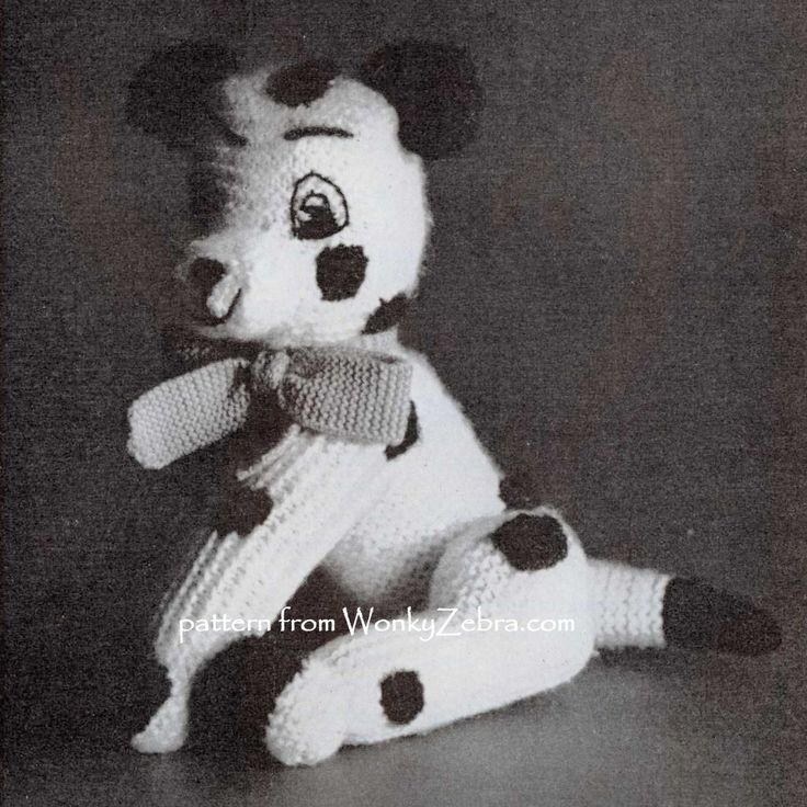 Patons Knitting Patterns Toys : Cheeky sitting toy dog knitting pattern from a vintage ...