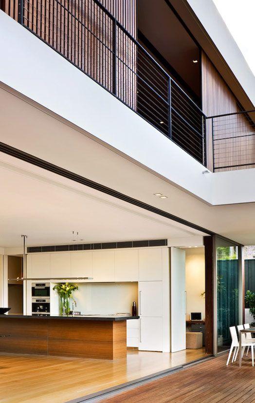 Inspiracion Arquitectura   Casa Moderna con espacios abiertos casa patio  002