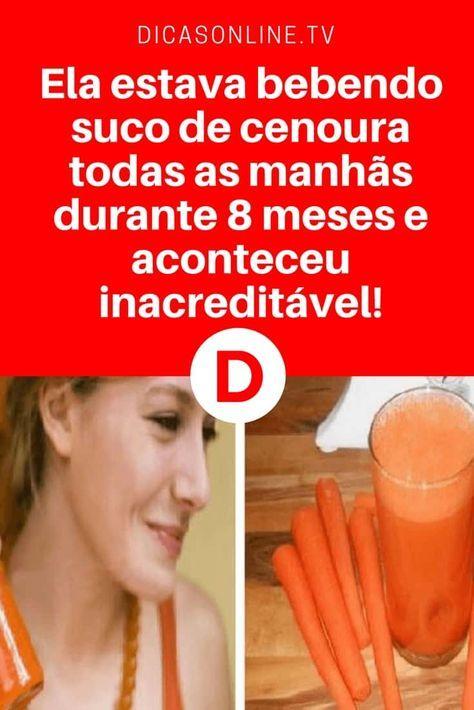 Suco de cenoura benefícios | Ela estava bebendo suco de cenoura todas as manhãs durante 8 meses e aconteceu inacreditável!
