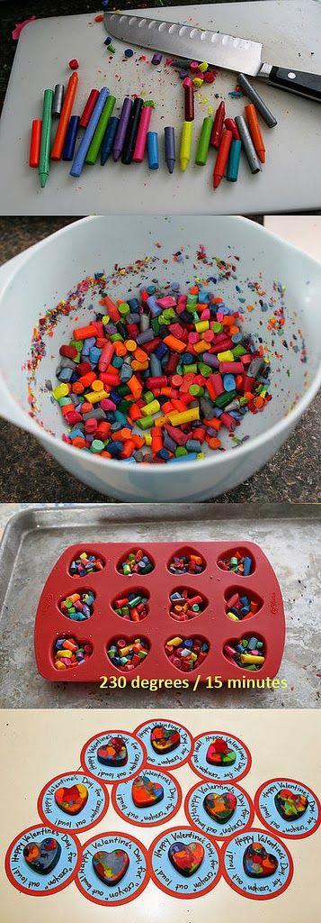 Make a Multicolor Heart by Crayon